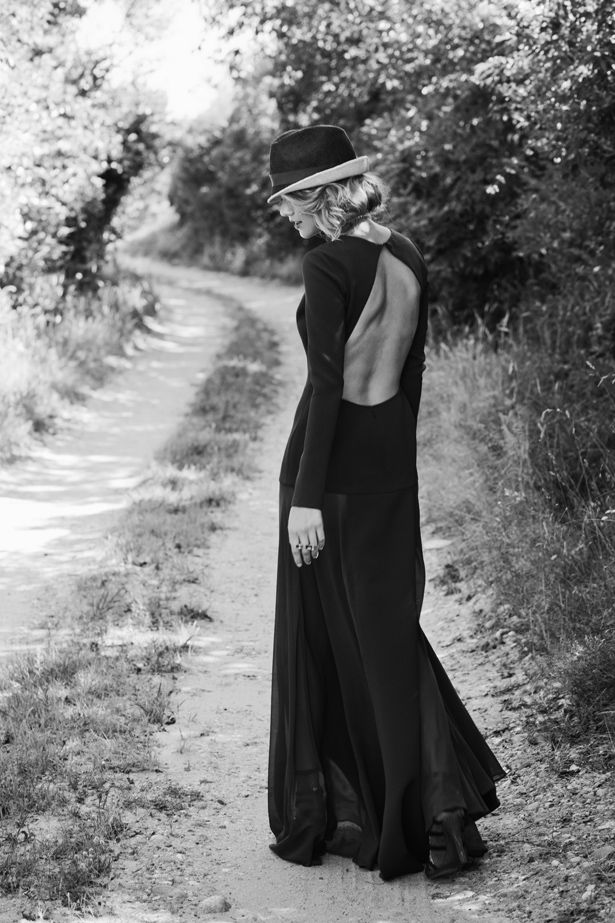 Victor Osborne hat, Tiffany & Co. necklace, DKNY gown, Atelier Swarovski ring, Rebecca Minkoff shoes