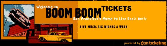 Boom Boom Tickets | Sat. August 24, 2013 - *OTIS* feat. JESSE WAGNER (of The Aggrolites) w/ LILAN KANE, VIOLA BOOTH, + DJ DR. SCOTT @ Boom Boom Room - 1601 Fillmore St., San Francisco, CA 94115