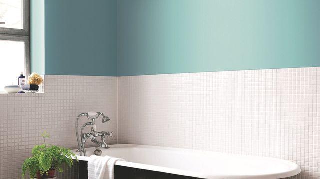 Les 25 meilleures id es de la cat gorie salles de bains vertes bleues sur pinterest cuisine for Quelle couleur mettre dans une salle de bain
