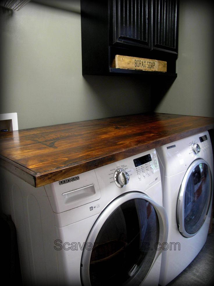 {I must do this, {how to} make your own laundry wood countertop