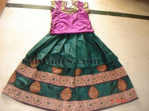 Indian Kids green lehenga