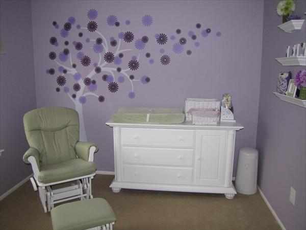 Love The Tree And Purple Baby Girl Nursery Baby Nursery