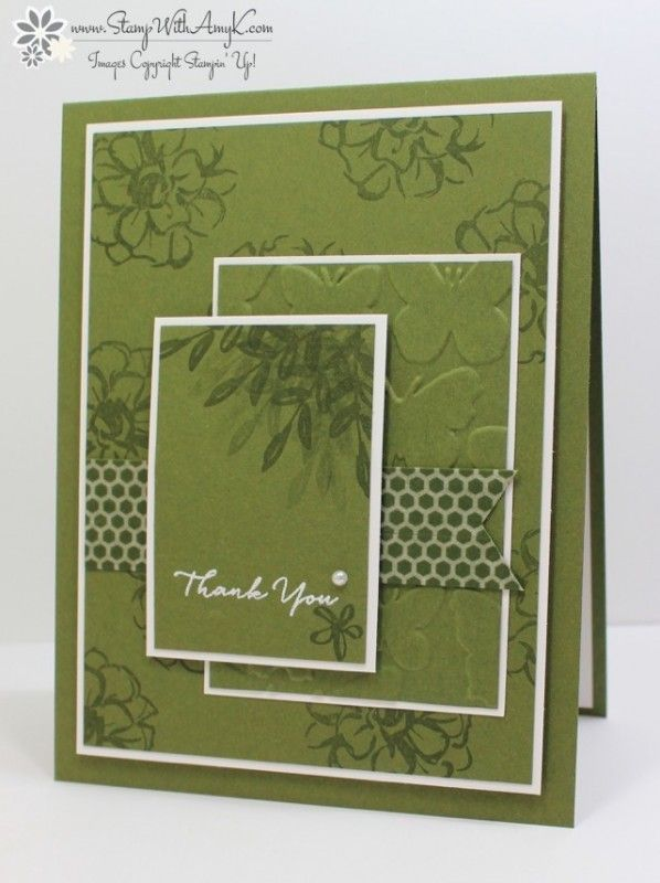 You can see more information and free instructions for creating this card as well as additional cards in the other 2014-16 In Colors on my blog here: http://stampwithamyk.com/2016/03/18/stampin-up-what-i-love-in-color-thank-yous/