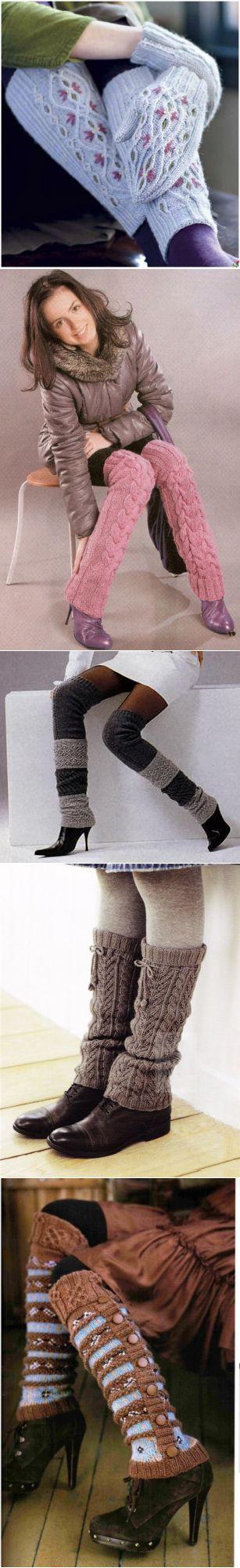 Гетры спицами на обувь: схемы и описание - Ladiesvenue