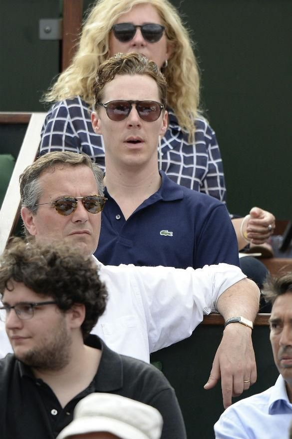 The League of British Artists: Benedict Cumberbatch Spotted At French Open After ...