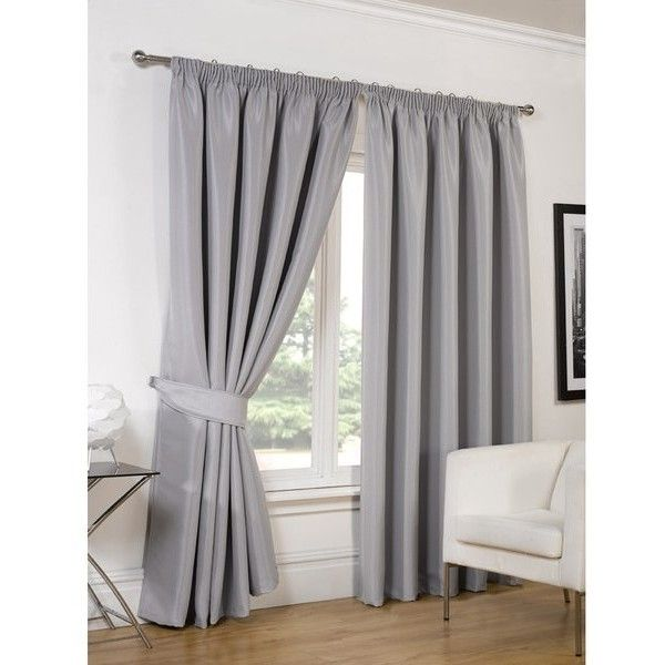 Dreamscene Faux Silk Blackout Curtains (105 CAD) ❤ liked on ...
