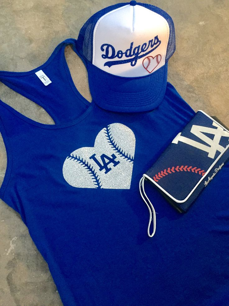 Dodgers Outfit- Trucker Hat | Dodgers Tank | Dodger Hat | Los Angeles Dodgers | Sports Trucker Hat | Dodger Shirt | Ladies Dodger Shirts | Dodger Hats for Women