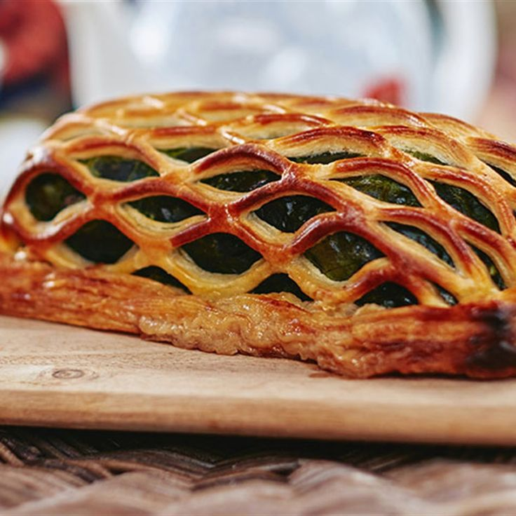 Try this Lamb Wellington recipe by Chef Matt Moran. This recipe is from the show The Great Australian Bake Off.