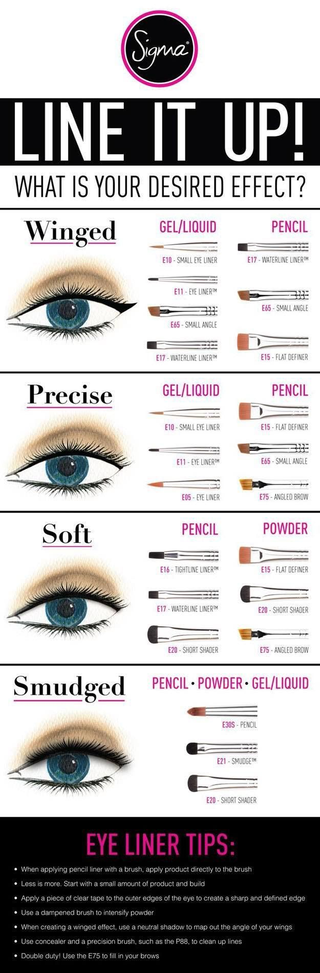 Best Makeup Eyeliner Brushes | Best Makeup Tutorials And Beauty Tips From The Web | Makeup Tutorials