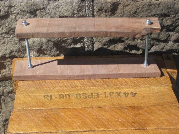 Rustic Urban Spice Rack Reclaimed Wood Shot by JerseyWoodPecker, $75.00