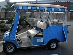 A golf cart enclosure really does make it possible to use a golf cart almost year round in Peachtree City, Georgia.