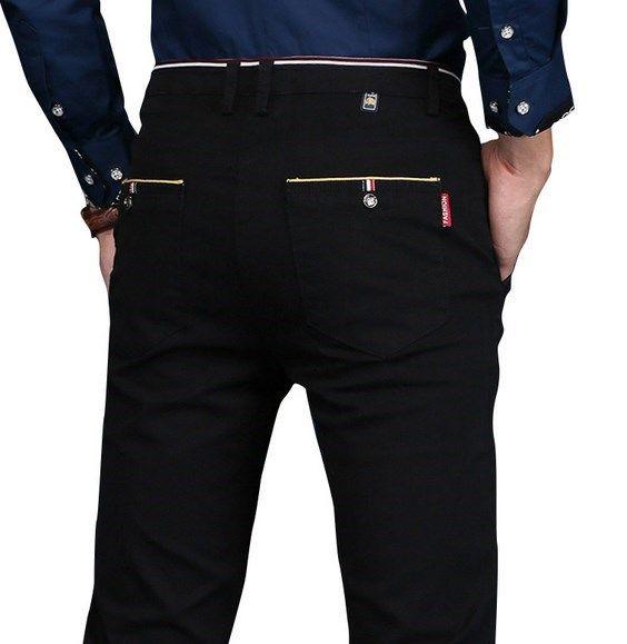 Mens Slim Fit Dress Pants Plus Size Formal Pants Men Skinny Formal Suit Trousers Men Business Casual Pantalon Homme Black Khaki