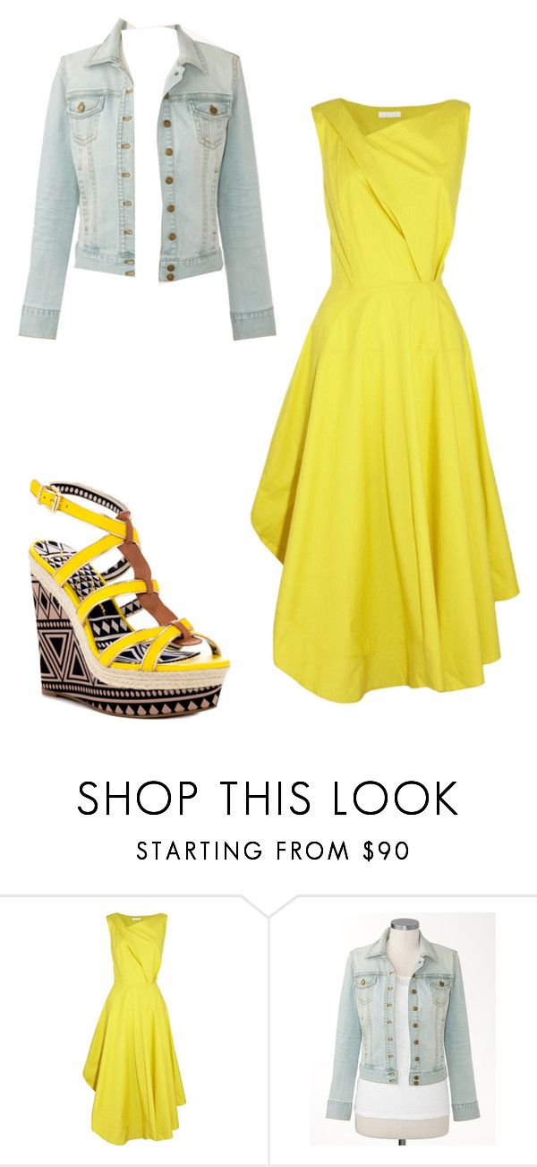 """""""Spring !!"""" by taralei1997 ❤ liked on Polyvore featuring Nicole Farhi, Coldwater Creek and Jessica Simpson"""