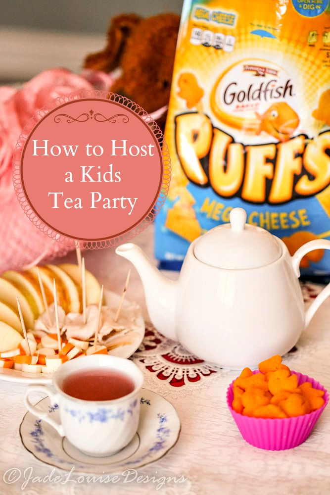 How to Host a Simple Kids Tea Party  #GoldfishTales #ad