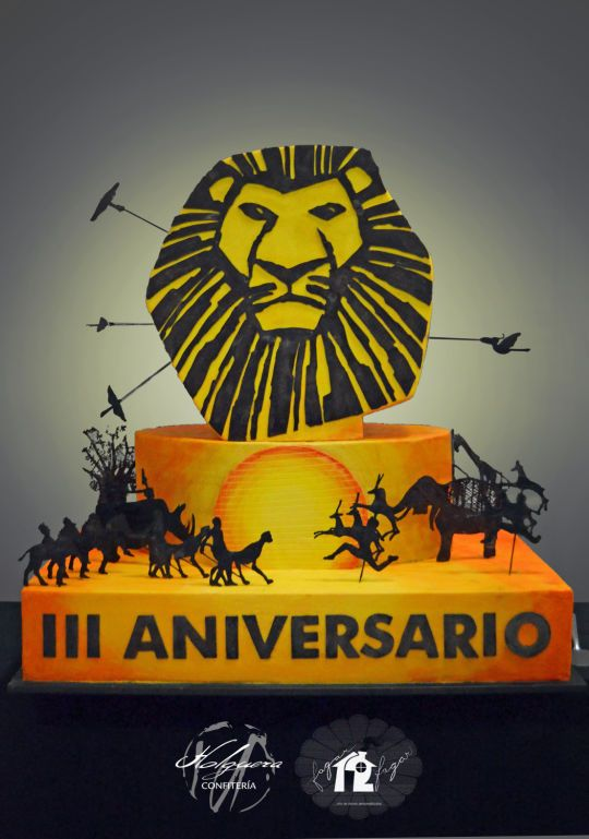Lion King The Musical III Anniversary Cake  By Daniel Diéguez cakepins.com