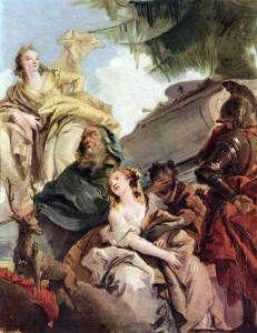 """H θυσία της Ιφιγένειας"", έργο του Giovanni Battista Tiepolo (18ος αιώνας)."