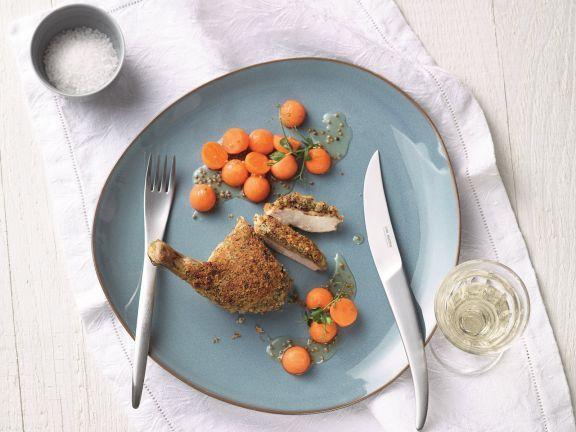 Perlhuhnbrust im Kräutermantel ist ein Rezept mit frischen Zutaten aus der Kategorie Perlhuhn. Probieren Sie dieses und weitere Rezepte von EAT SMARTER!