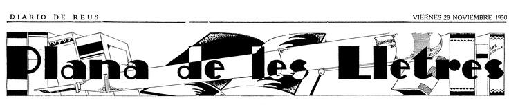 BAS BOFILL: Capçalera de secció. Diari de Reus, 1930-1931.