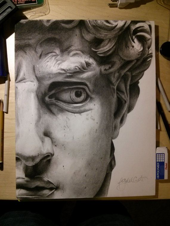 Best 25 realistic drawings ideas on pinterest realistic eye pencilgraphite photo realistic drawing of a section of michelangelos david 11 x 17 ccuart Image collections