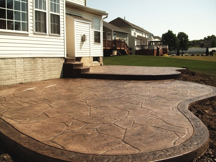 Brown Stamped Concrete Patio : Best stamped concrete patios ideas on pinterest