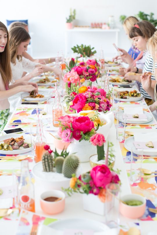 cactus inspired brunch party