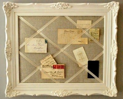 memory board with fabric burlap