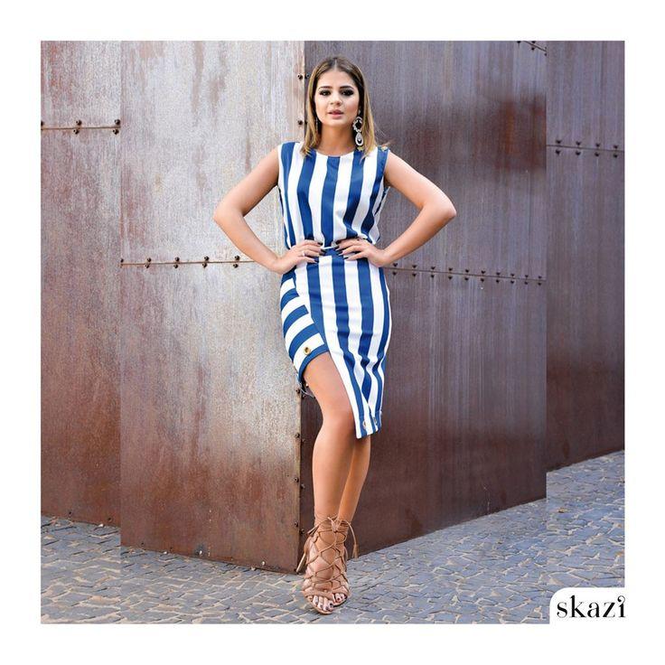 www.modaminasbh.com.br Muito fashion este dress com a top bloger Thássia Naves,é uma previa do que vem por aí na coleção verão 2016 da Skazi.