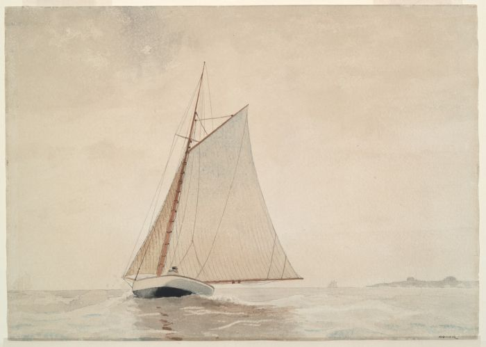 Winslow Homer, Sailing off Gloucester