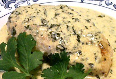 CILANTRO CREAM CHICKEN - Linda's Low Carb Menus & Recipes
