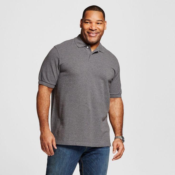 Men's Big & Tall Polo Gray 5XB Tall - Merona, Shirts & Tops