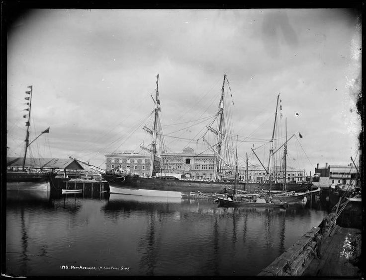 Port Adelaide in South Australia in 1890.