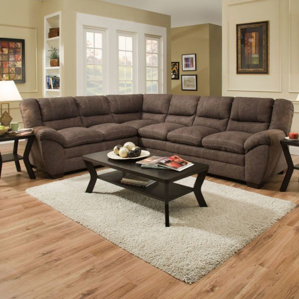 Simmons 9511 Sectional Sofa Palermo Mocha Hope Home Furnishings And Flooring Sectional Sofa With Chaise Living Room Designs Sofa And Loveseat Set