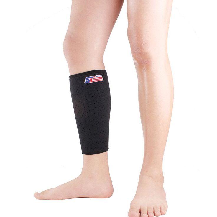 Neoprene Ease Cramping Soreness Leg Sleeve Support Basketball Sport Compression Calf Brace Protector Leggings Wrap knee brace