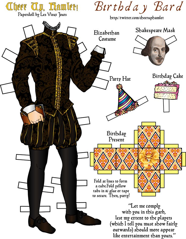 Paperdolls for the Bard. #shakespeare