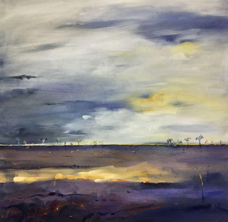 Evening, Desert Landscape - Oil on canvas *ON HOLD – PLATFORMstore