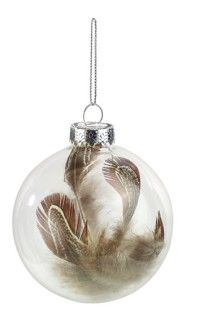 Boule de Noël plume