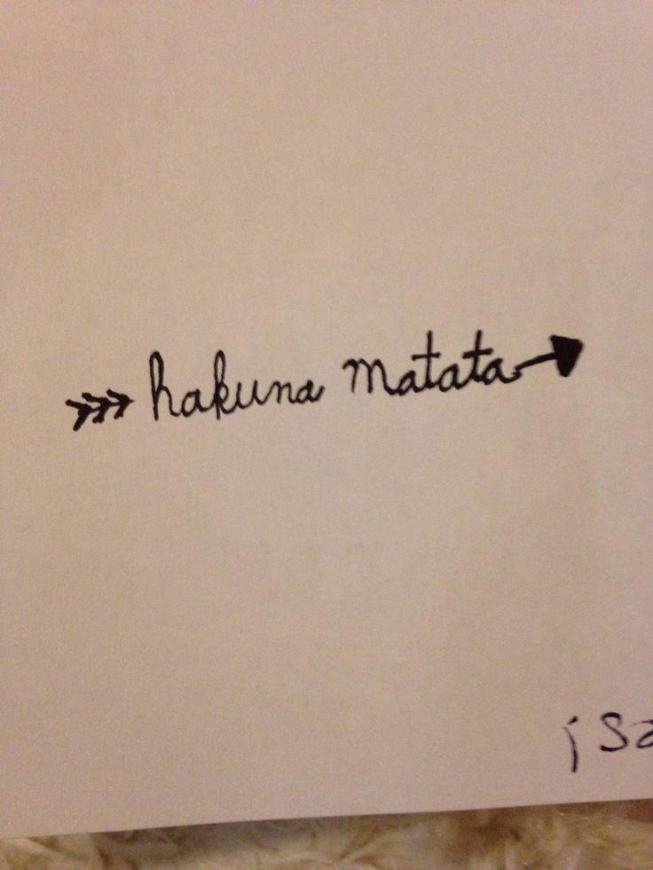 Tattoo arrow hakuna Matata lion king