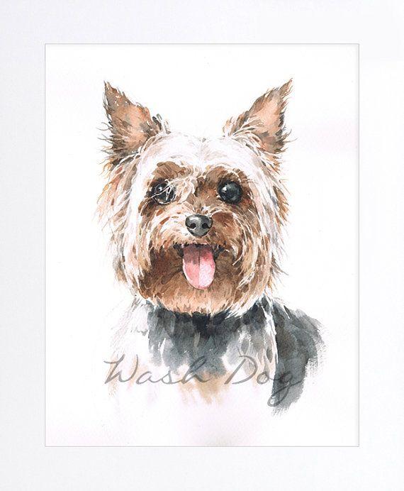 yorkshire terrier dog portrait | ... Yorkshire, Dog painting, Yorkshire dog portrait, Dog watercolor, Gift