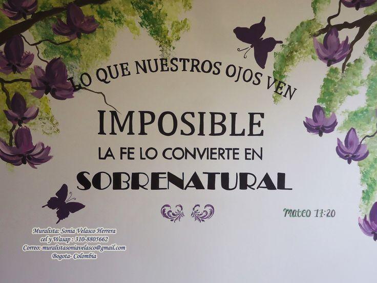 MIS NUEVOS MURALES TOTALMENTE PINTADOS A MANO CON LA PALABRA DE DIOS . Dios dirigiendo mis manos a El la gloria y la Honra . llama 310-8805662 — con Sonia Velasco.