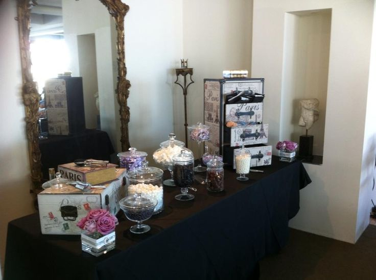 Our Paris themed lolly buffet is quite a treat!