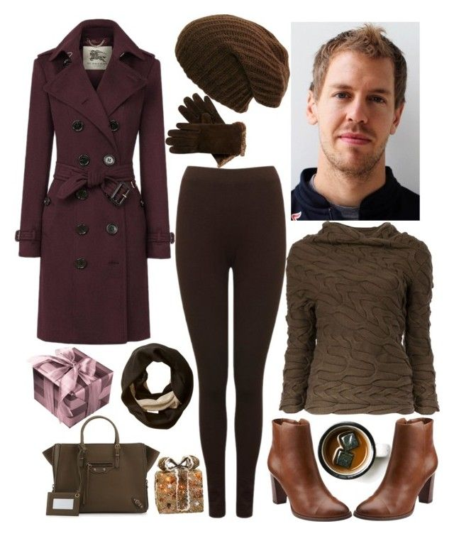 December date with Sebastian Vettel by slytheriner on Polyvore featuring Alexander McQueen, Burberry, M&Co, Clarks, Balenciaga, Calvin Klein, Isotoner, Shea's Wildflower and Sparq