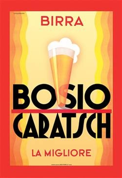 Vintage Italian Poster for Boscio Caratsch designed by Diulgheroff a Bulgarian from Kyudenstil.