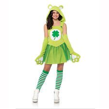 Care Bears Green Good Luck Bear Juniors / Teen Child Costume Leg Avenue CB49077