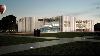 Caen dévoile son architecture contemporaine. La future bibliothèque de Caen poussera sur la friche industrialo portuaire de la Presqu'île.