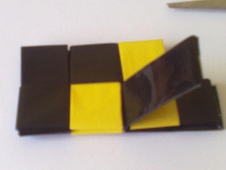 skládání rovného pruhu -. candy bag :: U Heleniny :) koše,kabelky,šperky
