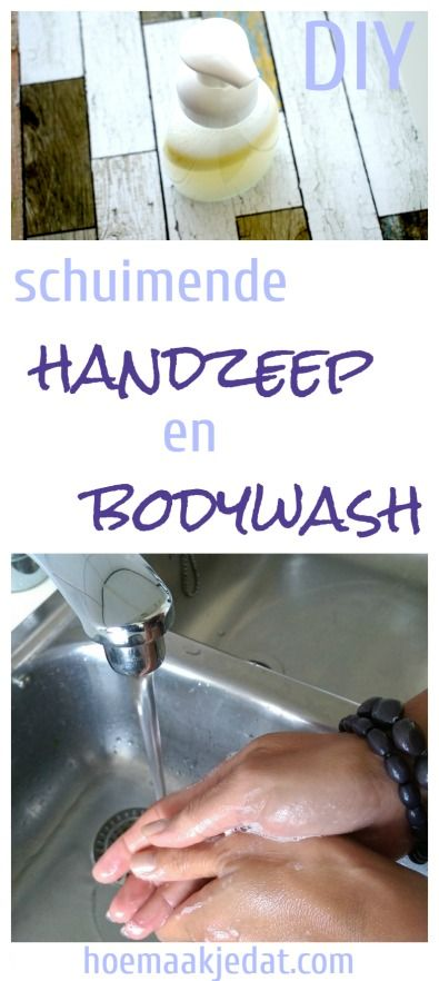 Homemade schuimende bodywash of handzeep?