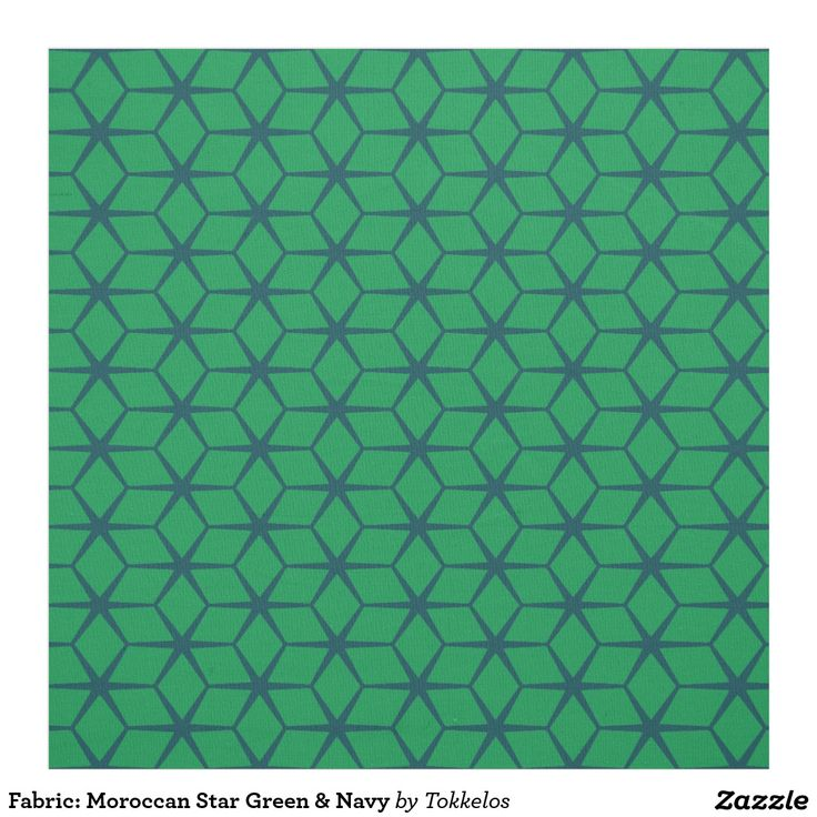 Fabric: Moroccan Star Green & Navy