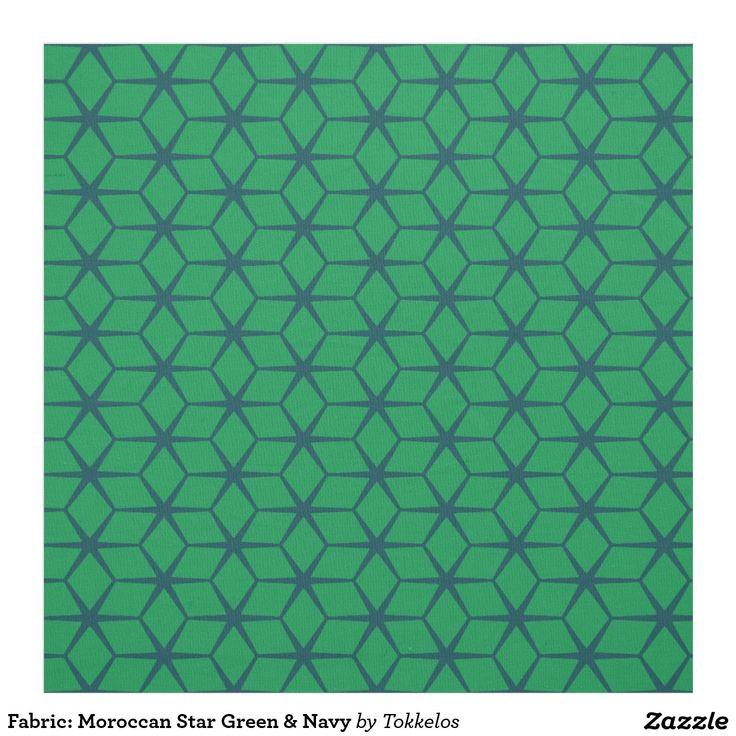 Fabric: Moroccan Star Green & Navy