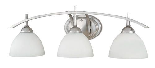 menards bathroom vanity lights somerville 3 light 26 25 quot satin nickel vanity light 19443