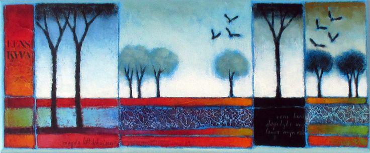 20 x 50 cm acryl op doek              20 stuks gemaakt ter gelegenheid van het 20-jarig jubileum van Galerie T